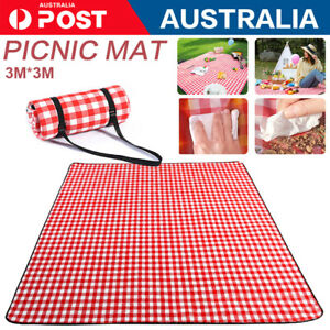 3m*3m Extra Large Picnic Blanket Mat Cashmere Waterproof Rug Outdoor Camping