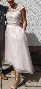 Coast Blush Pink Tulle Skirt and Top Size 12 (worn once)