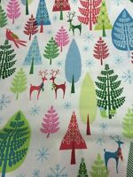Winter Woods White Deer Michael Miller Fabric FQ+ More Nature 100% Cotton Craft