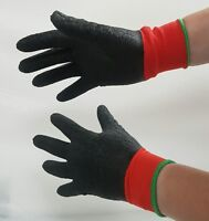 Multi Purpose Waterproof Work Grip Gloves Fully Latex Coated Safety Aqua Wet Oil