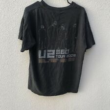 U2 360 Tour Shirt 2009 Official Print Adult Large Distressed #2J