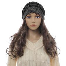 Chapeaux noir en laine mélangée pour femme