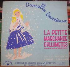 DANIELLE DARRIEUX/ANDERSEN LA PETITE MARCHANDE D'ALLUMETTES 25cm FRENCH LP