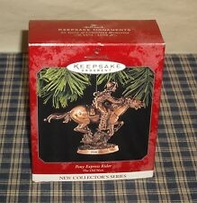 1998 Hallmark Pony Express Rider Ornament First in the Old West Series    MIB