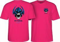 Powell Peralta Per Welinder NORDIC SKULL Skateboard Shirt HOT PINK LARGE