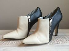 """CALVIN KLEIN """"Bessie"""" Almond & Black Color Block Bootie Shoe Size 6"""