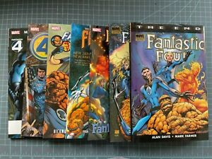 MIXED LOT OF 7 MARVEL FANTASTIC FOUR TPB'S/HC'S HICKMAN MILLAR THE END