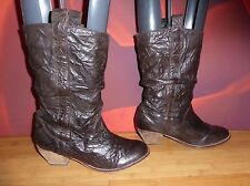 *40* NEXT BROWN LEATHER   RIDING COWBOY STYLE  BOOTS  UK 8 EU 42