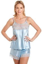 SATIN FRENCH KNICKERS AND CAMISOLE SET PLUS SIZES 10 12 14 16 18 20 22 24 26