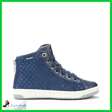 Geox Shoes baby Suede with rhinestone High Sneakers Laces Zippers Baby girl