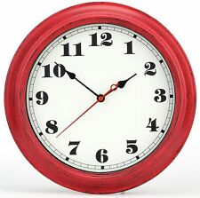 iMotion Wall Clock 12-Inch Decorated Dial Face Retro Wall Clock, Silent Non-Tick