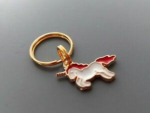 Dog Cat Collar Charm - Red, White and Gold Unicorn Charm