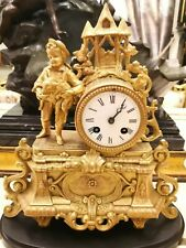Reloj en Bronce Dorado Napoleón III S. XIX