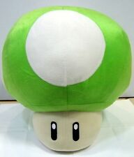 Super Mario Bros - Jumbo Green Mushroom - 16 Inch Plush Toy