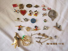 Lot of Pins for a Baseball Cap or other, Mickey Mouse, AC DC, Canadian Flag, etc