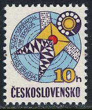 Czechoslovakia 2232,MNH.Telecommunications research.Stylized Satelite,Dial,1979