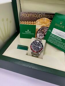 Rolex GMT Master II 16710 Coke Red and Black Stainless Steel Box Papers