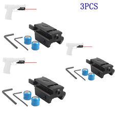 3pcs Hunting Red Dot Laser Sight Picatinny Weaver Rail Mount 20mm For Pistol Gun