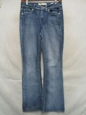 D4558 l.e.i. Hipster Flare Stretch Killer Fade Jeans Women 28x30