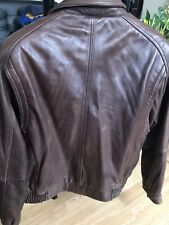 Dark Brown Men Leather Jacket Tanner Avenue New York.  XL   Shell Genuine Leathe