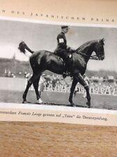 Ephemera Picture 1932 Olympics German Dressage Francois Lesage A3b