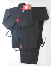 BAMBINO mooto Karate Gi-Nero Aperto Arti Marziali uniforme (110 CM)