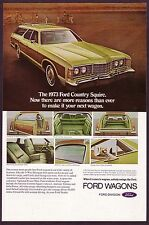 1973 Original Vintage Ford LTD Country Squire Station Wagon Car Photo Print Ad