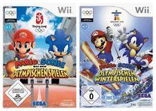 Wii Mario & Sonic Olympische Spiele Bundle Beijing 2008 + Vancouver 2010 + OVP