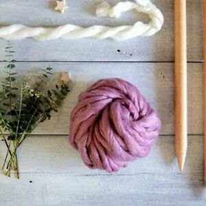 200 Grams Wiggly Yarn - Mauve   Giant Super Chunky Blanket Yarn Extreme Knitting