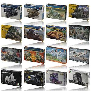 Italeri CHOOSE your model - Truck - Trailer - Airplane - Military - Ship - Car