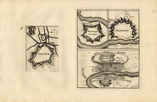 Antique Map-ROERMOND-LIEGE-NETHERLANDS-LUIK-Weege-1753