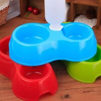 Dual Port Drinking Automatic Feeder Water For Dogs Cats Feeding Basin Bowls