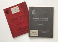 TECNOMASIO ITALIANO BROWN BOVERI - 2 rare pubblicazioni 1904 (turbine industria)