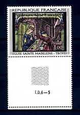 FRANCE-FRANCIA 1967 Vitrail de l'église Sainte Madeleine de Troyes, Aube MNH (H)