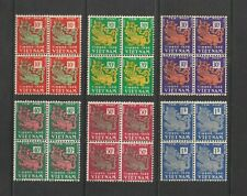 1952 South Vietnam Block 4 Postage Due Stamps Temple Lion Sc # J1 - J6 Mnh