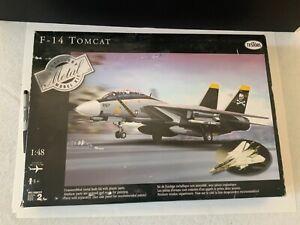 F-14 Tomcat Metal Body/Wings /Landing Testors 1/48 Sasembly Started.Aircraft Kit