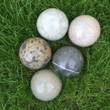 Natur Marmor gefärbt 3 Stück Marmor Steinkugeln gelb 8 cm, Garten Deko