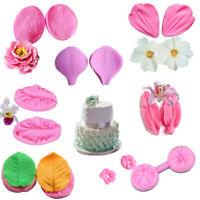 Silicone Fondant Cake Mold Flower Petal Shape Candy Chocolate DIY Baking Tool 3D