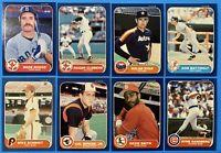 (8) 1986 Superstar Lot Cal Ripken Jr. Nolan Ryan Roger Clemens Don Mattingly