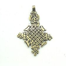 Alter Kreuz Anhänger vermutlich keltisch ca. 7 x 5 cm Messing