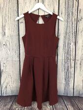 Lulus Party Hop Burgundy Backless Skater Dress Size Medium M NWT New Cocktail