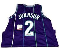 "Larry Johnson Signed Charlotte Hornets ""Grandmama"" Jersey (PSA COA) NBA UNLV"