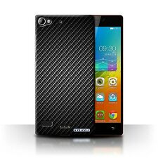 STUFF4 Case/Cover for Lenovo Vibe X2/Carbon Fibre Effect/Pattern/Grey