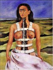 "Frida Kahlo OIL PAINTING ON CANVAS Classic wall decor The Broken Column 24x36"""