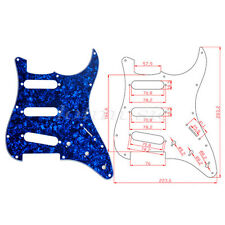Electric Guitar Pickguard for Fender Straocaster Strat Parts SSS 3Ply Blue Pearl