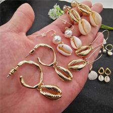 Bohemia Women Boho Natural Pearl Shell Earrings Drop Dangle Party Holiday Beach