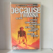 BECAUSE I WANNA ~ THE MOVIE ~ RARE SURFING VHS VIDEO by WAVES MAGAZINE