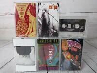 Cassette Tape Lot x6 PEARL JAM FOO FIGHTERS R.E.M. ALICE IN CHAINS JANE'S PORNO