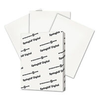 Springhill Digital Index White Card Stock 110 lb 8 1/2 x 11 250 Sheets/Pack