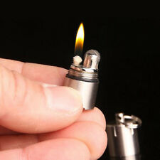 Super Mini Novelty Fire Flint Wick Kerosene Pipe Cigarette Lighter With Keychain